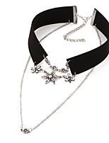 Ожерелье Без камня Ожерелья-бархатки Бижутерия Свадьба / Для вечеринок / Повседневные Мода Сплав / Резина Белый 1шт Подарок