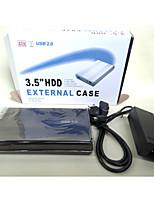 диск коробка жесткий 2,0 3,5 дюйма hddenclosure шата внешняя коробка для случая случайный цвет