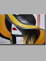 Hand-Painted Abstract / Abstract Portrait 100% Hang-Painted Oil Painting Modern One Panel Canvas Oil Painting For Home Decoration