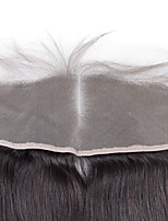 Medium Brown Swiss Lace Silk Straight 13x4 Lace Size Human Hair Full Lace Frontal