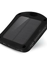 6000mAhmAhbanco do poder de bateria externa Recarga com Energia Solar / Lanterna 6000mAh 1000mA Recarga com Energia Solar / Lanterna