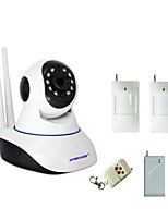 WIFI Burglar Alarm IP Camera House Security System With 1 Wireless Door Magnetic Sensor 1 PIR Motion Detector