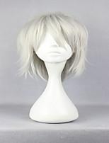 мужской моды драматическое убийство dmmd ясный серебристо-серый 35см короткий парик Cosplay