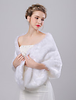 Women's Wrap Shawls Faux Fur / Imitation Cashmere Wedding / Party/Evening Pattern
