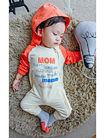 Baby Casual/Daily Solid Clothing Set-Cotton-Fall-Blue / Orange