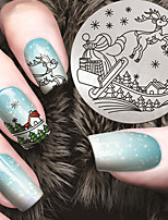 Manicure Printing Template Christmas Joy