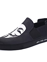 Men's Flats Fall Winter Comfort Canvas Casual Flat Heel Lace-up Black Blue Gold Black and White Walking