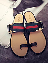 Women's Sandals Summer Comfort PU Casual Flat Heel Rivet / Others Black / Beige Others