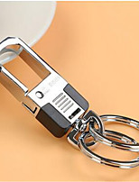 Metal Car Key Chain Couple Stainless Steel Key Ring