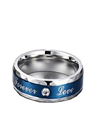 Ring,Band Rings,Jewelry Stainless Steel Fashionable Daily / Casual Silver-Blue 1pc,7 / 8 / 9 / 10 / 11 / 12 Men