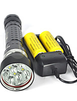 Underwater 200m 8000LM 4xXM-L2 LED Scuba Diving Flashlight Torch Full set Of Battery Charger