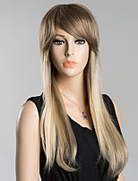 Oblique Bangs New Fashion Long Straight Human Hair Wigs