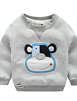 Boy's Casual/Daily Print TeeCotton Winter / Fall Blue / Orange / Gray