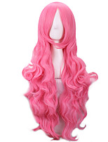 Pink Curly Harajuku Wig Pelucas Pelo Natural Synthetic Wigs Women Heat Resistant Perruque Anime Cosplay Wigs pelucas sinteticas
