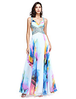 TS Couture® Homecoming / Formal Evening / Holiday Dress - Beautiful Back A-line Straps Floor-length Chiffon withBeading / Crystal