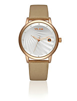 VILAM® Women's Fashion Leather Clock Imitation Diamond Waterproof Calendar Female dress Quartz Wrist Watch