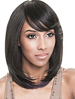 Short Straight Style Black Color Synthetic Wigs for Women