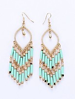 National Wind Beads Pendant Tassels Eardrop Of Foreign Trade Europe And The United States Bohemian Fashion Earrings