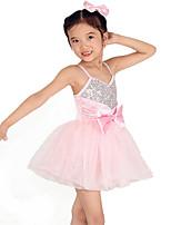 RobesElasthanne / Polyester / Paillété / Tulle Nœud papillon / Paillettes / Ceinture/Ruban Spectacle Danse classique Taille haute