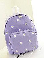 Casual Backpack Women Canvas Pink Purple Blue Green Yellow