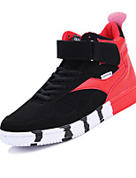 Men's Sneakers Spring / Fall Comfort Fabric Casual Flat Heel Lace-up Black / Red / White Sneaker
