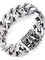 kalen® do punk crânio de Viking pulseiras alta polido aço inoxidável 316L link de heavy pulseiras de cadeia para homens presentes