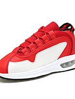 Men's Sneakers Spring / Fall Comfort PU Athletic Flat Heel Others / Lace-up Red / White / Black and White Sneaker