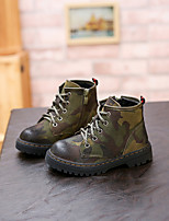 Boy's Boots Others Cowhide Casual Black / Green