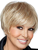 Short Straight Hair Blonde Color Synthetic Wigs for Women