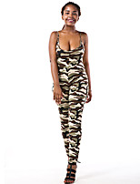 Women's Camouflage Classic Slim Fashion Backless JumpsuitsSexy / Street chic Strap Sleeveless