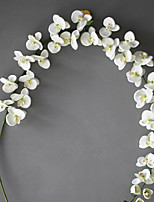 Set of 1 PCS 1 Branch Polyester Orchids Background Decoration Artificial Flowers Long 78(inch)