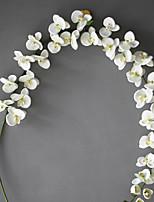 Set of 1 PCS 1 Филиал Полиэстер Орхидеи Букеты на стол Искусственные Цветы Long 78(inch)
