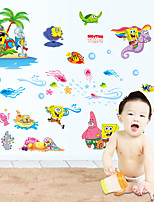 Caricatura / De moda / Ocio Pegatinas de pared Calcomanías de Aviones para Pared Calcomanías Decorativas de Pared,PVC Material Removible