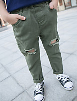 Boy's Casual/Daily Solid PantsCotton Summer / Spring Black / Green