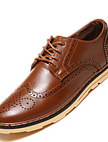 Men's Oxfords Spring / Summer / Fall / Winter Comfort Casual Flat Heel Lace-up Black / Brown / Yellow / Burgundy Others