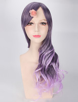 New Purple Ombre Wigs Natural Fashion Body Wave Lovely Lolita Women Party Cospaly Synthetic Wigs for Custume