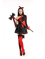 Cosplay Costumes Wizard/Witch / Vampire Movie Cosplay Black Solid Dress / Gloves / Headwear Halloween / Carnival Female Polyester