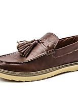 Черный Коричневый-Мужской-Повседневный-Микроволокно-На плоской подошве-Удобная обувь-Мокасины и Свитер