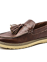 Men's Loafers & Slip-Ons/Comfort/Casual Flat Heel British Style/Driving Shoes/Tassel Black/Brown Walking