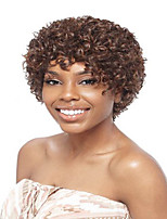 Short Afro Curly Wave Auburn Color Synthetic Wigs for Women
