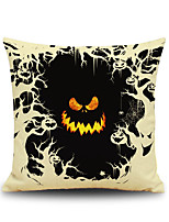 Halloween Pumpkin Devil Square Linen Decorative Throw Pillow Case Cushion Cover