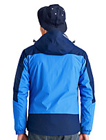 Hiking Softshell Jacket Men's Waterproof / Breathable  / Warm / Windproof / Wearable Winter Tactel Blue /  Army Green