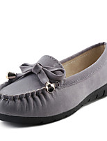 Women's Loafers & Slip-Ons Spring / Summer / Fall Comfort Leatherette Casual Flat Heel Bowknot / Split JointBlack