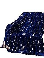 Bedtoppings Blanket Flannel Coral Fleece Queen Size 200x230cm Dark Star Prints 210GSM