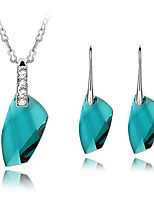 Thousands of colors  Jewelry Necklaces / Earrings Jewelry set Crystal Fashion Daily 1set Women -4861