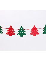 Flags 2.2 M Felt Elk Christmas Garland Banner Flag Christmas Decorations Christmas Window Decoration Party Props