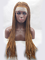 Brown Color Braiding Wig Synthetic Lace Front Wigs For Afro Women