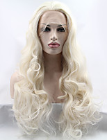 Sylvia Synthetic Lace front Wig Bleach Blonde Heat Resistant Long Wavy Synthetic Wigs