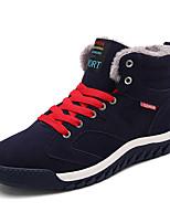 Hombre-Tacón Plano-Confort-Zapatillas de deporte-Casual-PU-Negro / Azul