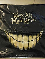 Halloween Clown We Are All Mad Here Linen Decorative Throw Pillow Case Cushion Cover